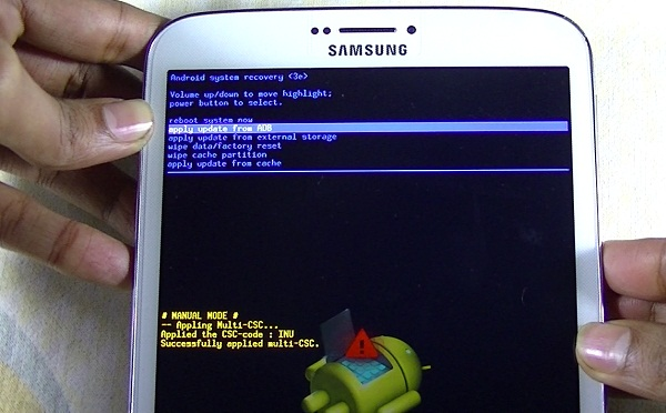 android system recovery menu