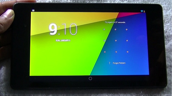 Google Nexus Tab Pattern Lock.