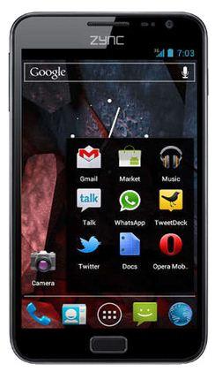 zync z5 dual SIM tablet