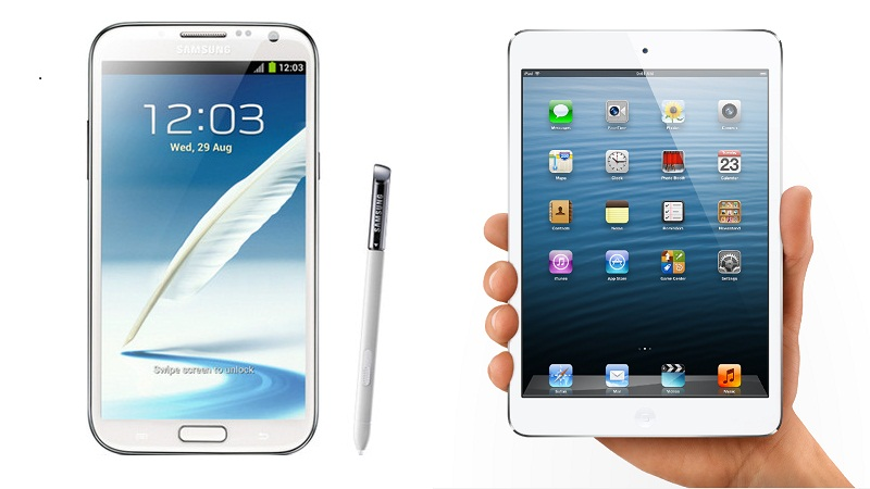 ipadmini vs Samsung Note 510