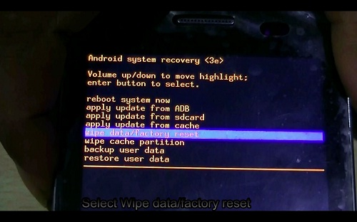 Android recovery menu