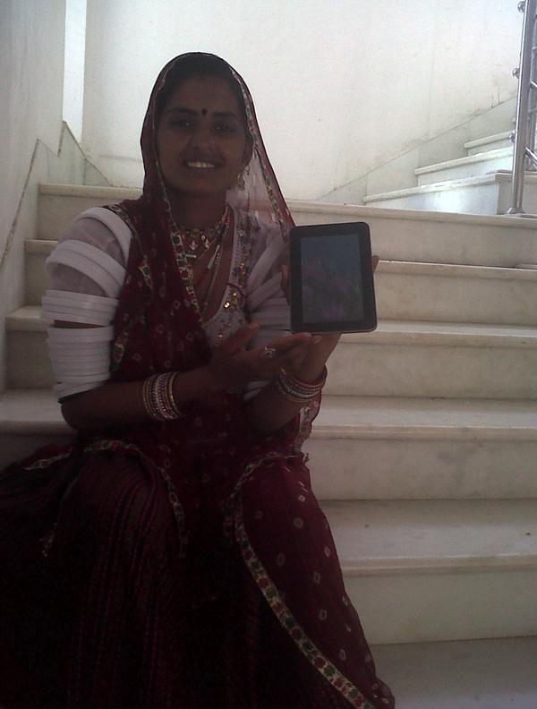 UNICEF ASHA using Tablet PC