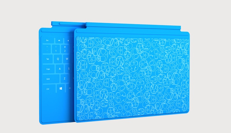 Industrial designer at Microsoft Kate Baily created the concept for this design for a tablet cover using her Microsoft Surface Pro