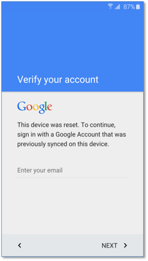 Gmail credential